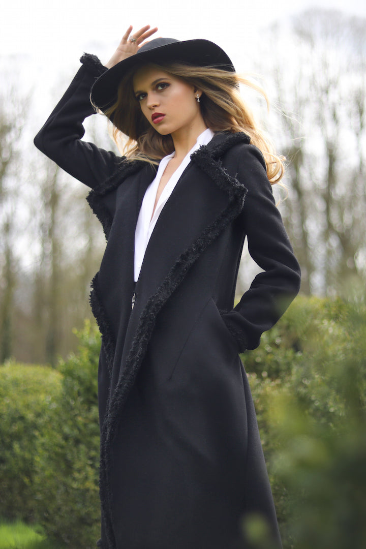 chic unique cashmere coat made in France