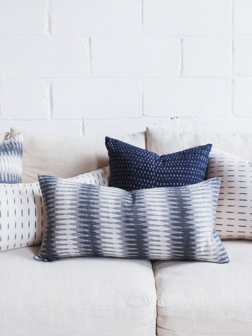 Grey Ikat Pillow