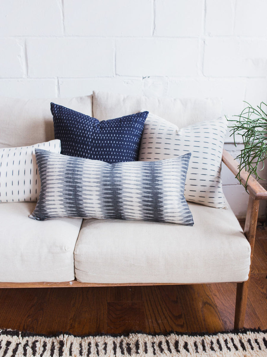 Gray Ikat Pillow