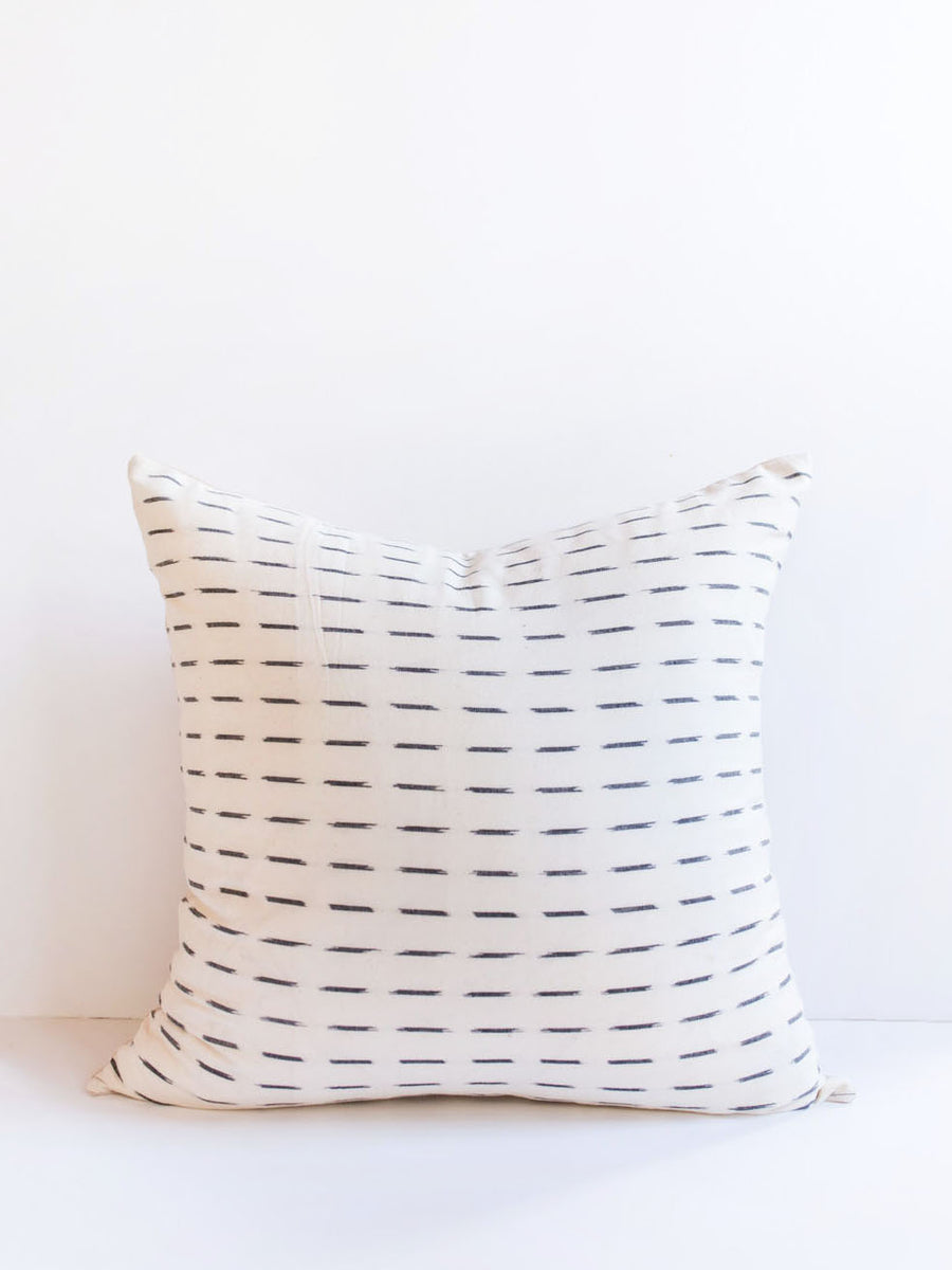 White Dash Pillow