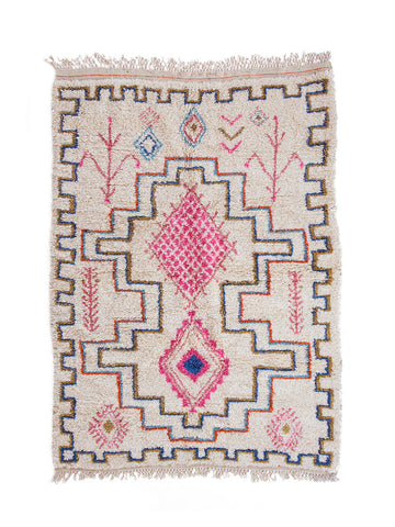 imogen shag rug nursery rug cream rug wool rug handcrafted rug ethical rug fare trade artisanal women business