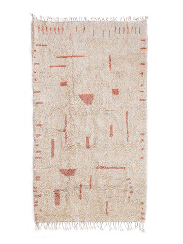 nola shag rug nursery rug cream rug wool rug handcrafted rug ethical rug fare trade artisanal women business