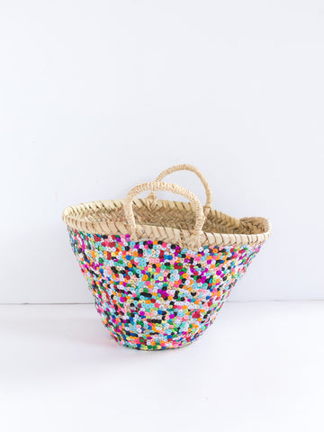 Mini Colorful Sequin Basket
