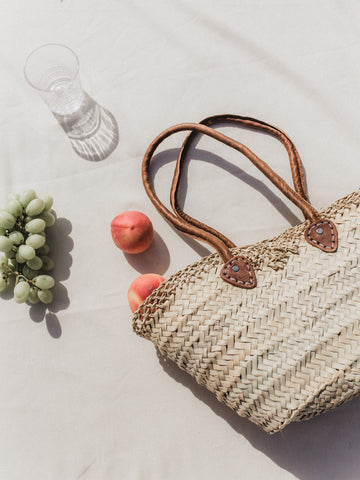 Lace Straw Bag