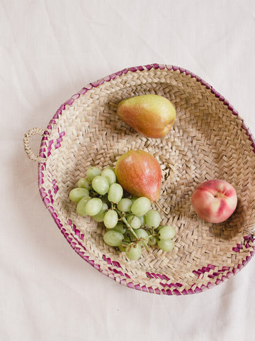 Medium Straw Fruit Basket