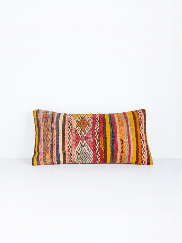 Kayra Turkish Lumbar Kilim Pillow