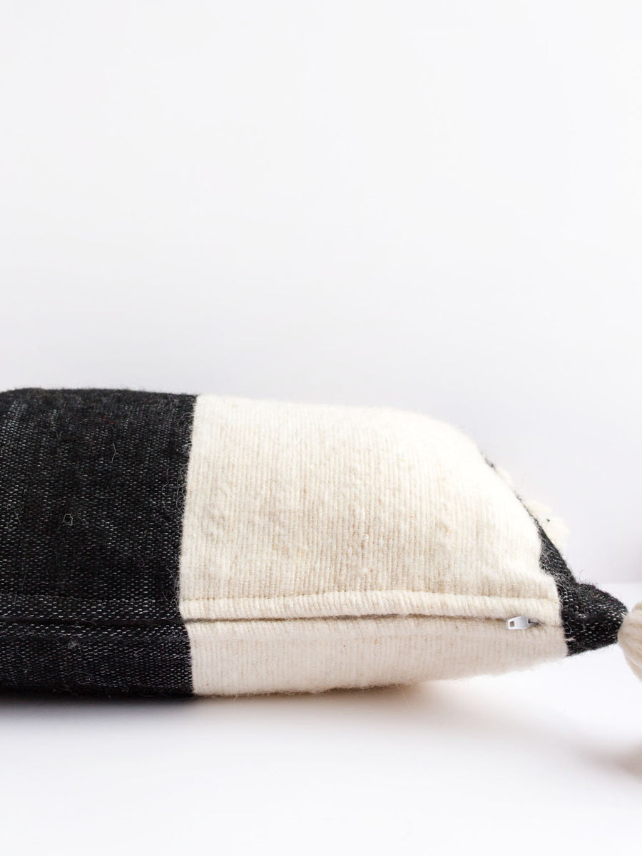 Striped Wool Lumbar Pillow