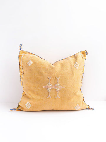 Mustard Cactus Silk Pillow