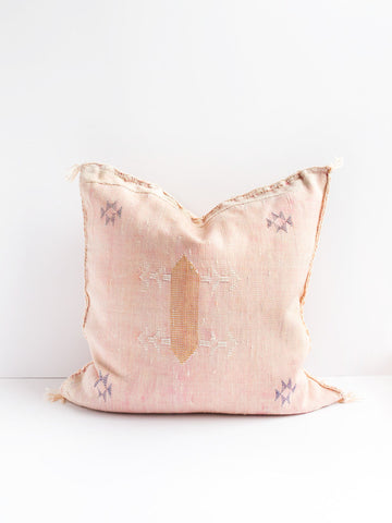 Esmé Blush Cactus Silk Pillow