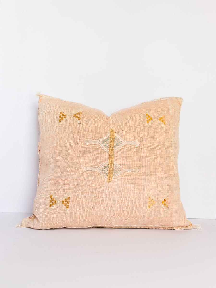 Devon Blush Cactus Silk Pillow