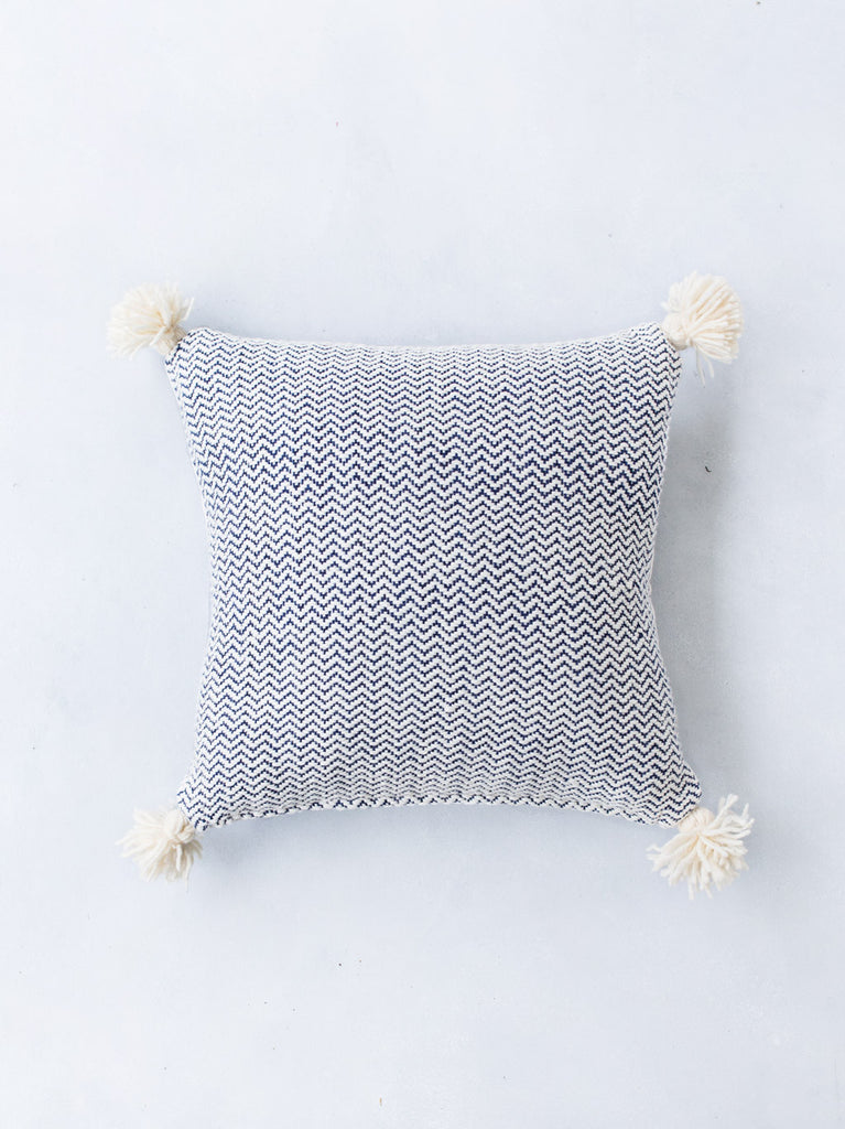 Chevron Pom Pom Pillow