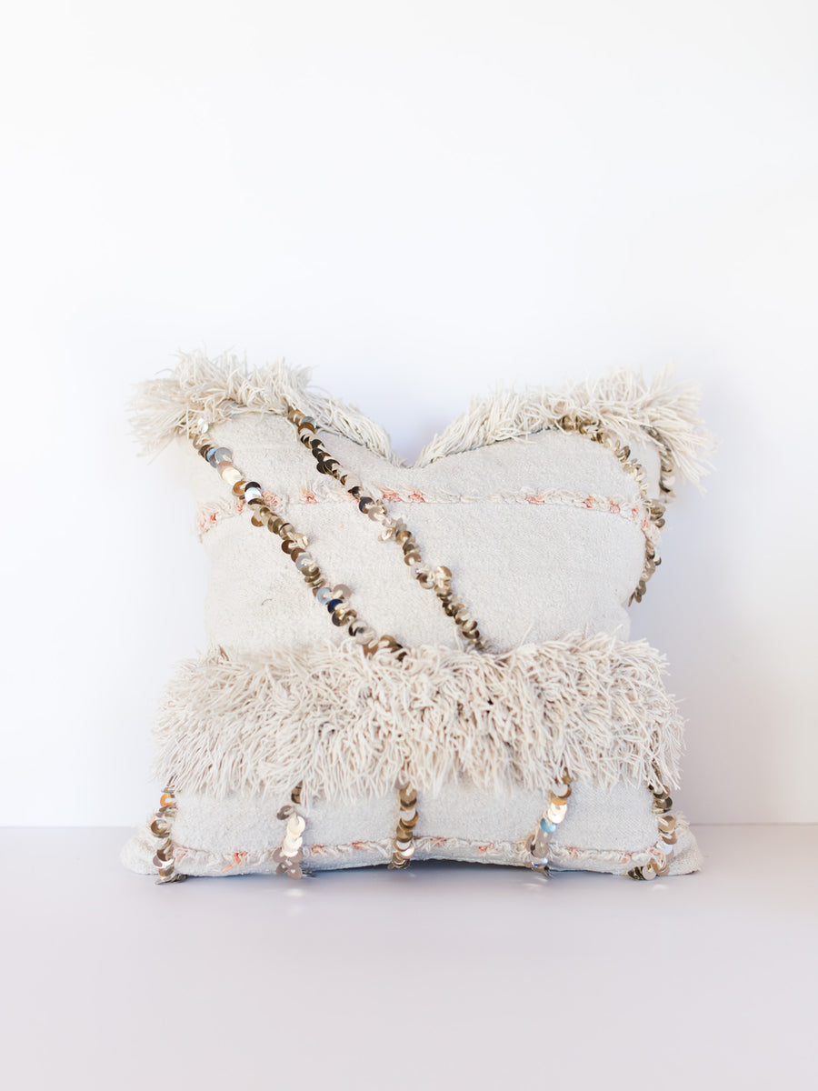 Moroccan Wedding Blanket Pillow