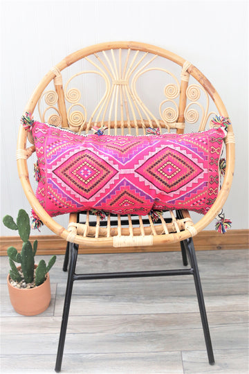 Vintage Pink Wool Pillow