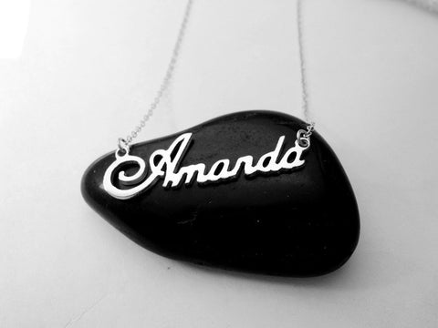 Name Necklace Silver - Customized - Patzam