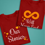Our Stories-Never End Couple T-Shirts - Patzam