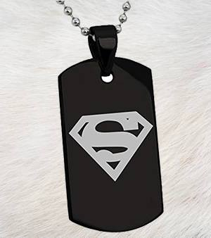 Black Dog Tag - Superman - Patzam