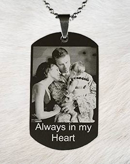 Black Dog Tag - Custom Picture - Patzam