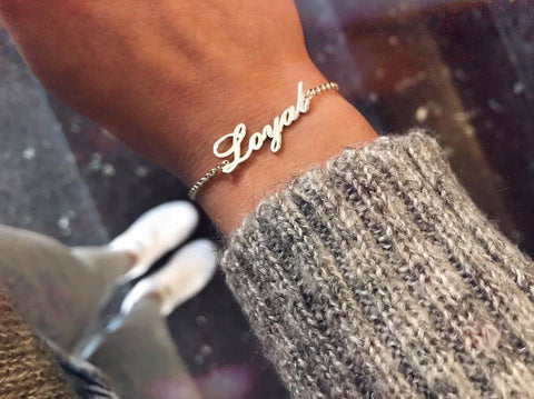 Name Bracelet Silver - Customized - Patzam