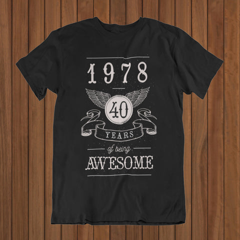 40 years Awesom T-Shirt (DTG) - Patzam