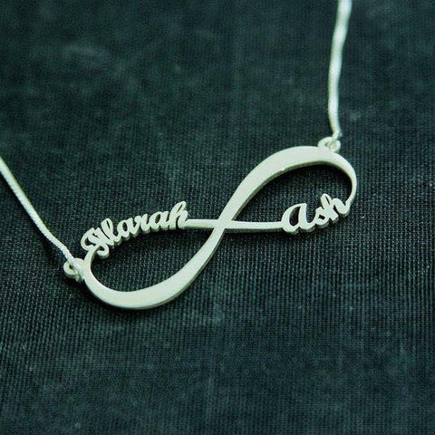 Infiniti Name Necklace Silver - Customized - Patzam