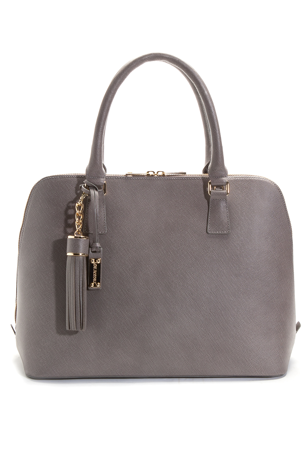 Mel Boteri Grey Saffiano Leather 'Watson' Tote | Front View