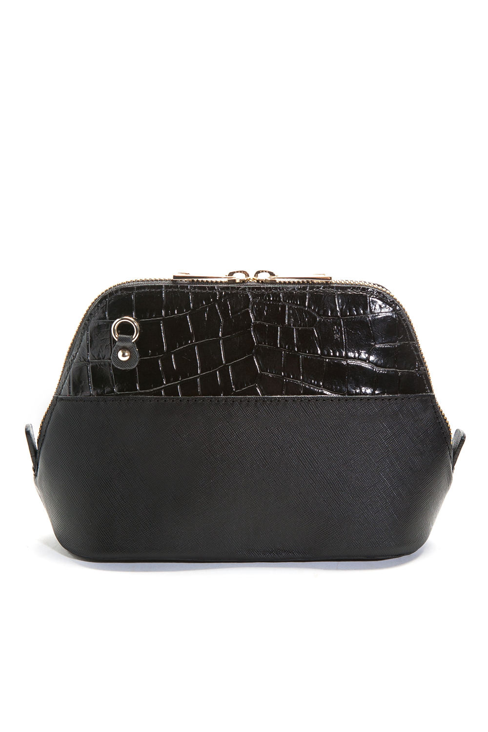 Mel Boteri 'Watson Mini' Cross-Body & Clutch Black Leather Bag | Back View