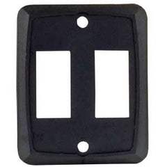 1/pk  Black  Double Wall Plate