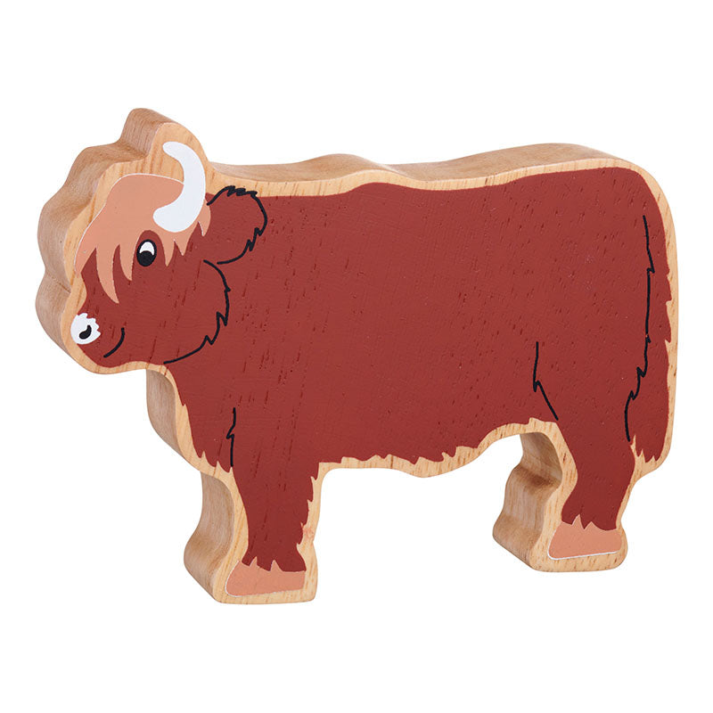 NEW Wooden Brown Highland Cow