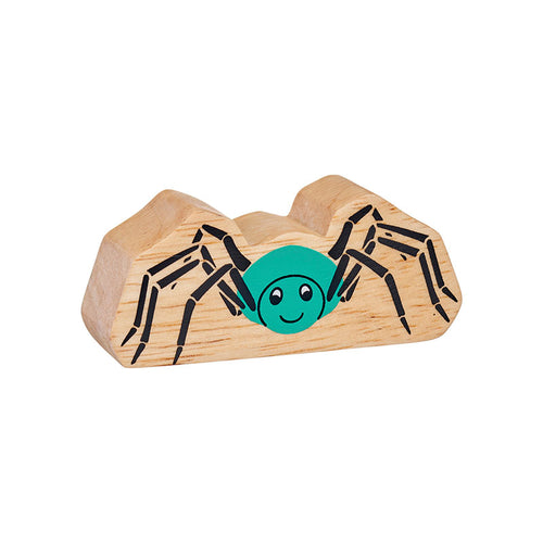 Natural Wooden Turquoise Spider