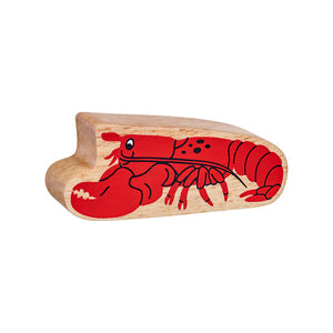 Natural Wooden Red Lobster