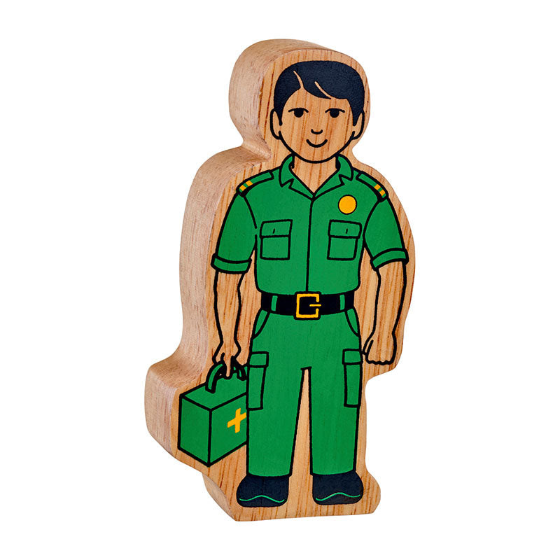 NEW Natural Wooden Green Paramedic