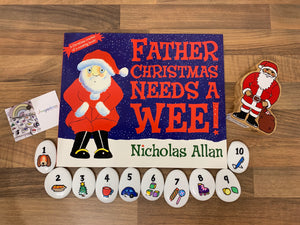 NEW 'Father Christmas Needs a Wee' Imagistones & Book Bundle