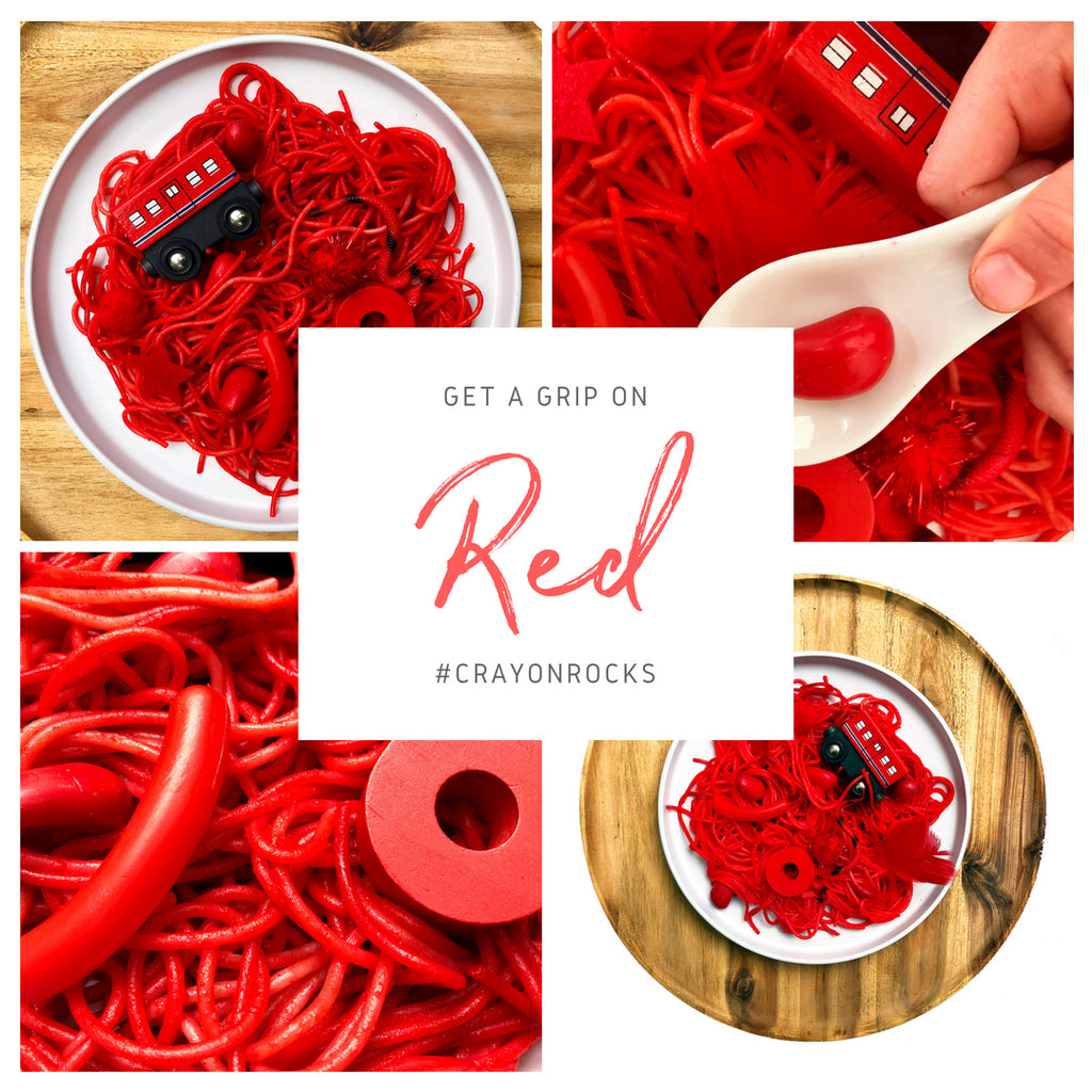 SENSORY SEARCH WITH RED SPAGHETTI