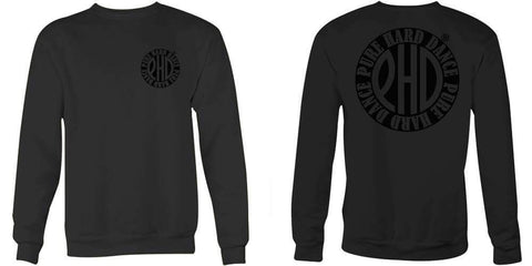 Black on Black Classic Print Sweat Shirt