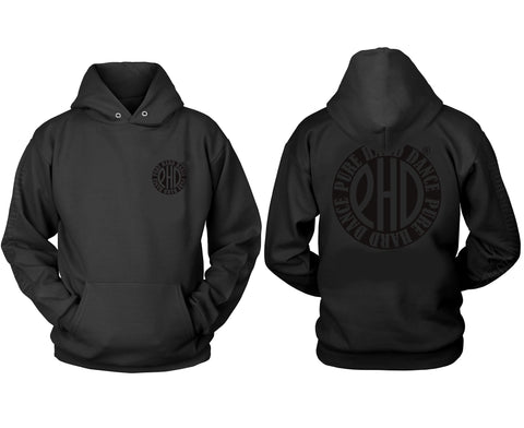 Black on Black PHD Classic Print Hoodie