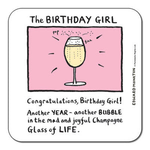 Birthday Girl  Coaster<br>(Pack of 10)