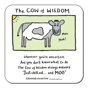 Cow of Wisdom  Coaster<br>(Pack of 10)