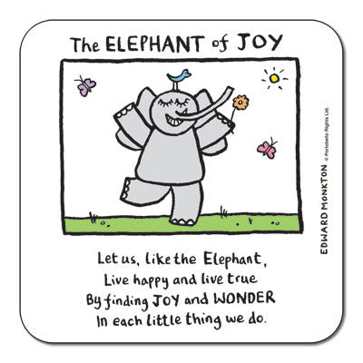 Elephant of Joy  Coaster<br>(Pack of 10)
