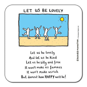 Let us be Lovely  Coaster<br>(Pack of 10)