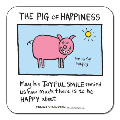 Pig of Happiness  Coaster<br>(Pack of 10)
