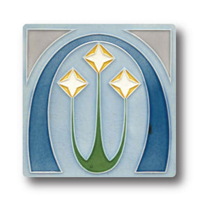Art Nouveau Tile 10 Ceramic Coaster<br>(Pack of 10)