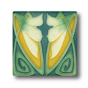 Art Nouveau Tile 15 Ceramic Coaster<br>(Pack of 10)