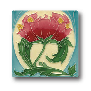 Art Nouveau Tile 22 Ceramic Coaster<br>(Pack of 10)