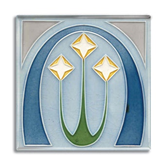 Art Nouveau Tile 10 Fridge Magnet<br>(Pack of 10)