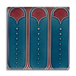 Art Nouveau Tile 12 Fridge Magnet<br>(Pack of 10)