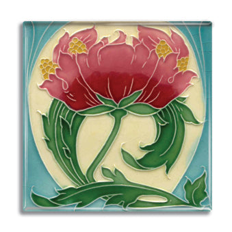 Art Nouveau Tile 22 Fridge Magnet<br>(Pack of 10)