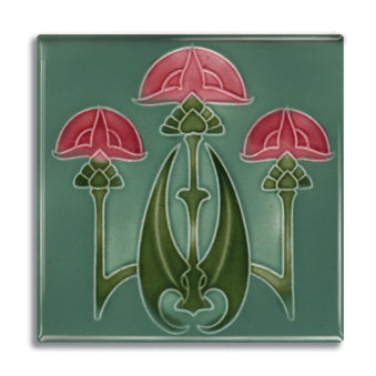 Art Nouveau Tile 23 Fridge Magnet<br>(Pack of 10)
