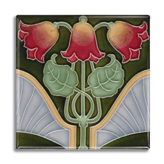 Art Nouveau Tile 25 Fridge Magnet<br>(Pack of 10)