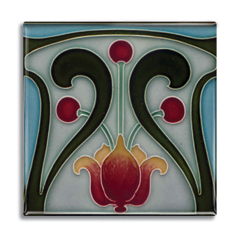 Art Nouveau Tile 29 Fridge Magnet<br>(Pack of 10)