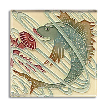 Art Nouveau Tile 02 Fridge Magnet<br>(Pack of 10)